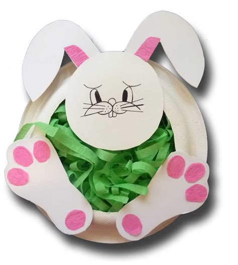 paper plate bunny craft paper plate easter bunny basket rachael edwards