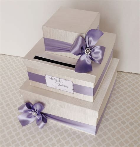 how to make gift card boxes for weddings custom made wedding card box money holder purple by
