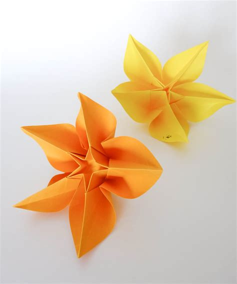 origami flower carambola origami tutorial carambola flower sprung
