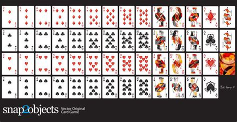how to make a card deck free vector cards deck 123freevectors