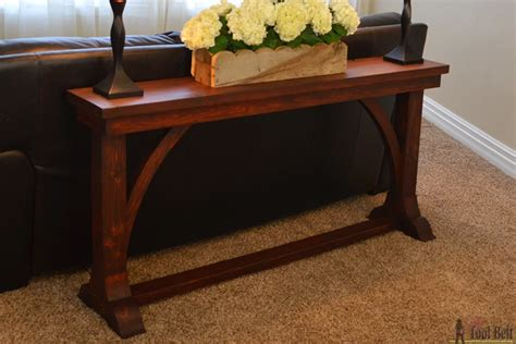 sofa table plans sofa table plans white rustic x console diy projects