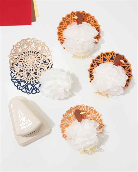 martha stewart thanksgiving crafts for paper pom pom turkeys martha stewart