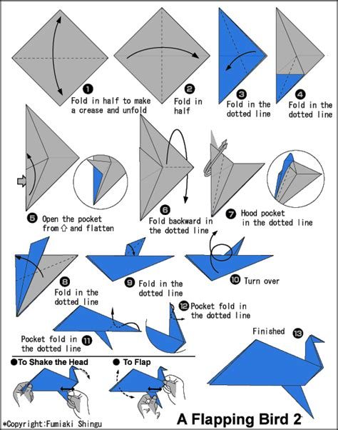 how to make a bird with origami how to make a flapping bird origami origami tutorial
