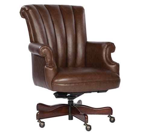 executive office chair leather coffee ribbed leather executive office desk chair ebay