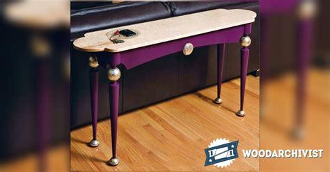 sofa table plans sofa table plans woodarchivist