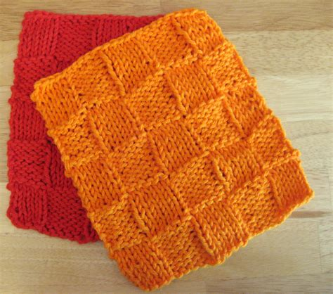 basket weave knitting pattern basket weave dishcloth of