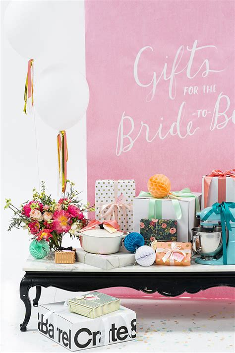 bridal shower table bridal shower gift table ideas from 100 layer cake crate