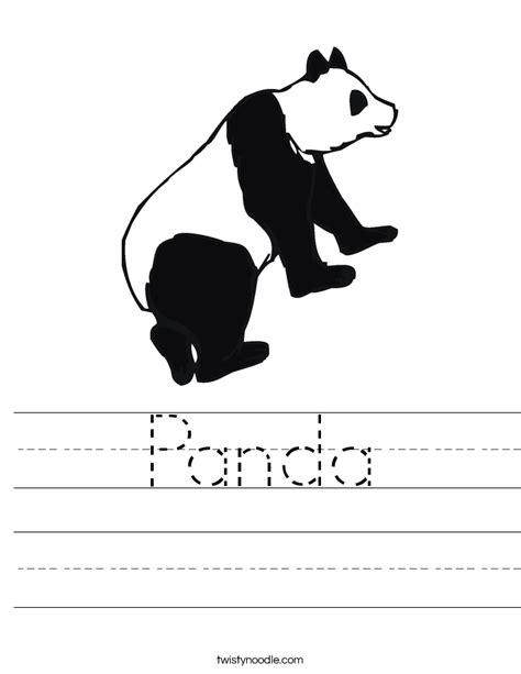 panda worksheet twisty noodle