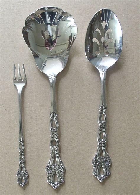 silverware rubber st 3 serving pcs oneida community stainless chandelier