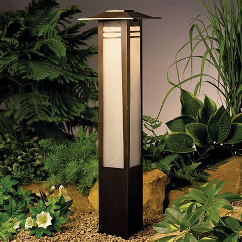 garden outdoor lighting kichler 15392oz zen garden 12v landscape bollard light