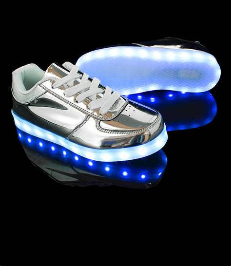 holographic lights holographic light up shoes exclusive led hologram silver