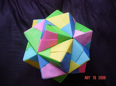 modular origami sonobe sonobe unit cumulated icosahedron modular origami a