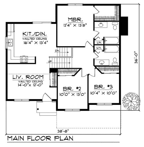 split level floor plan split level with vaulted ceilings 89629ah