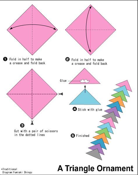 paper triangles origami diy origami brooch