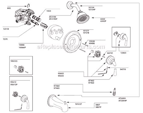 Belle Foret Kitchen Faucet moen t3124cp parts list and diagram ereplacementparts com