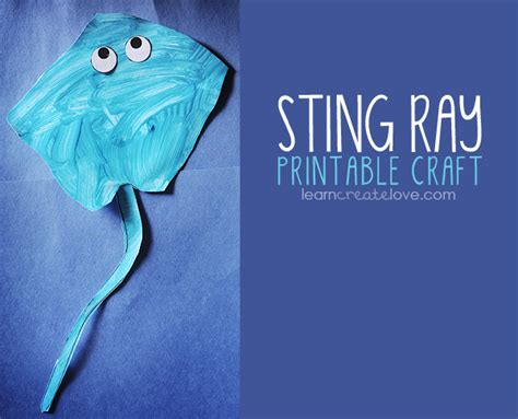 sting paper crafts printable sting craft