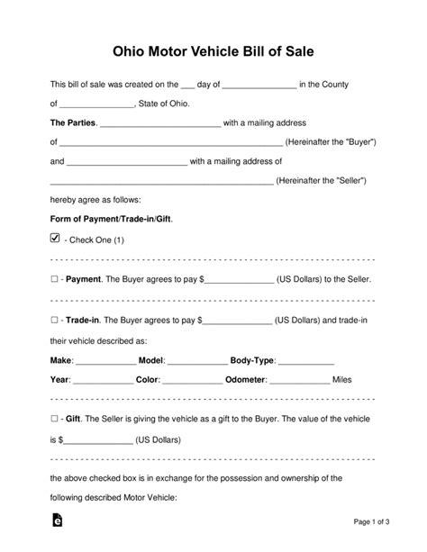 colorado dmv non resident form free ohio bill of sale forms pdf word eforms free