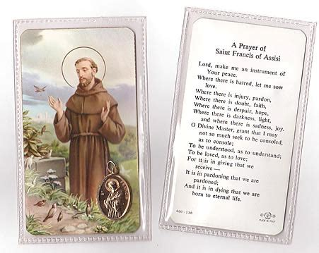 st francis of assisi patron of justice animals and the environment vintage prayer card
