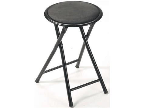 tabouret pliant folk coloris noir vente de chaise de cuisine conforama
