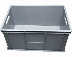 Klappbox Mit Deckel : stapelbox 64 l 600x320x400 mm grau bei hornbach kaufen ~ Markanthonyermac.com Haus und Dekorationen