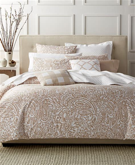 charter club damask designs paisley taupe king comforter set only at macy s bedding