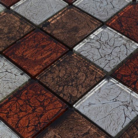 Crystal Glass Backsplash Tiles Maple Leaf Glass Mosaic