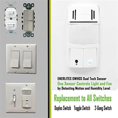 humidity switch by enerlites 2 in 1 humidity motion sensor switch bathroom fan switch