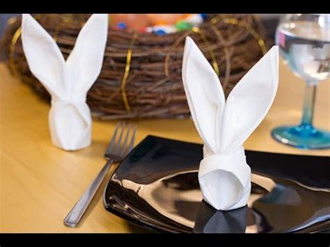 diy p 226 ques pliage de serviette en lapin origami serviette lapin
