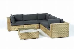 Rattanmöbel Garten Lounge : gartenm bel set rattan lounge square sand farben ~ Markanthonyermac.com Haus und Dekorationen