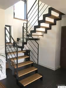 cuisine fabrication escalier metal bois escalier moderne en bretagne escalier moderne leroy