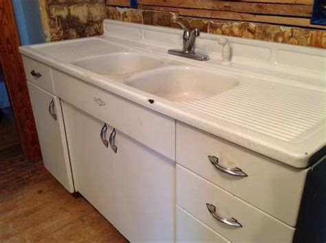 Refinish Youngstown Kitchen Sink by Vintage Youngstown Steel Enamel Kitchen Sink Counter