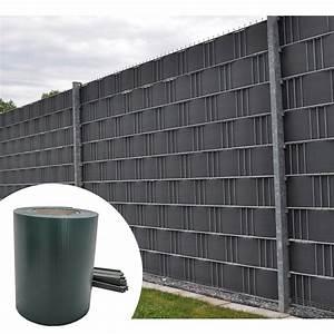 Sichtschutz Für Stabmattenzaun : pvc sichtschutz windschutz doppelstabmatten zaunblende streifen zaunfolie balkon ebay ~ Markanthonyermac.com Haus und Dekorationen