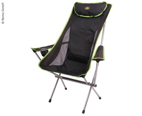 chaise ultra legere santa fe avec accoudoir oreiller