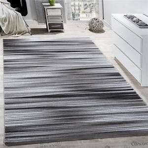 Teppich Wohnzimmer Grau : teppich wohnzimmer modern gestreift kurzflor glitzergarn meliert grau anthrazit wohn und ~ Markanthonyermac.com Haus und Dekorationen