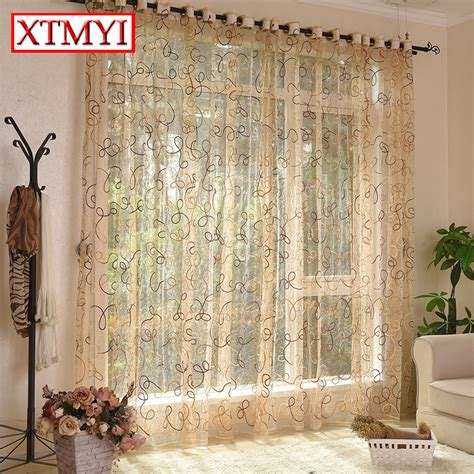 aliexpress buy european style brown cafe kitchen curtains treatments tulle cortina door