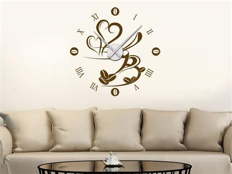 Wandtattoo Uhr Kaffeezeit Wanduhr Wandtattoode