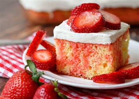 strawberry shortcake with food cake strawberry shortcake poke cake