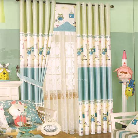 abordable pas cher 233 pais animal dentelle b 233 b 233 bleu vert clair enfants chambre rideaux enfants