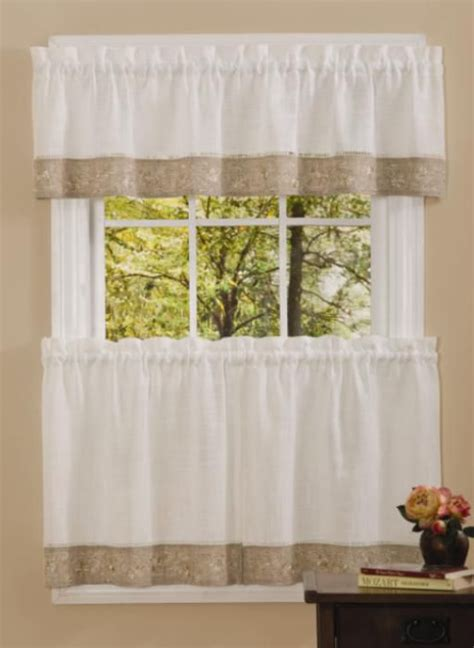 black kitchen curtains sears