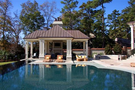 pool cabana ideas pool traditional with column concrete