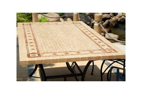 table mosa 239 que en toscane de jardin en fer forg 233 marbre et travertin