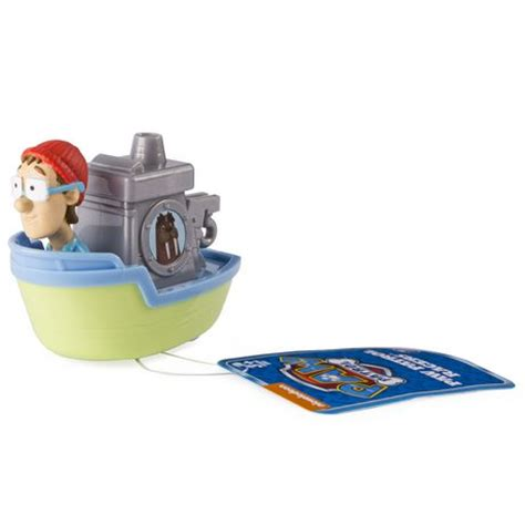 Captain Turbot Boat Toy by Paw Patrol Rescue Racers Captain Turbot S Boat Toy Vehicle