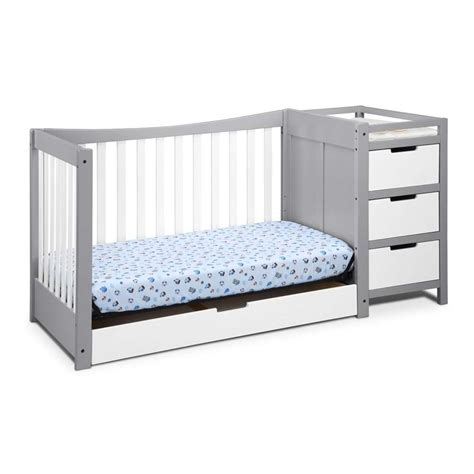 graco remi 4 in 1 convertible crib and changer in white and gray ebay