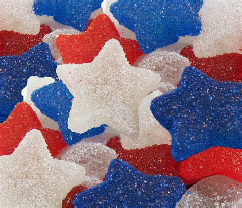 Red, White, And Blue Gumdrops Made In Your Home Kitchen