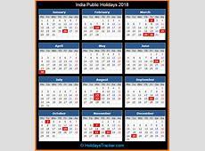 India Public Holidays 2018 – Holidays Tracker