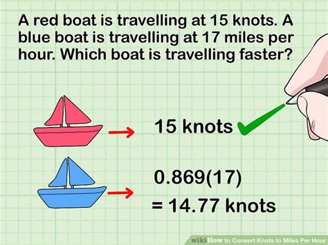 Convert Boat Hours To Miles 3 ways to convert knots to miles per hour wikihow