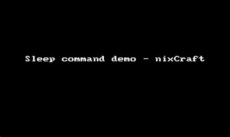 Sleep Command Linux by Linux Unix Bash Script Sleep Or Delay A Specified