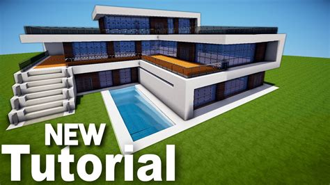 minecraft how to build a realistic modern house best mansion 2016 tutorial