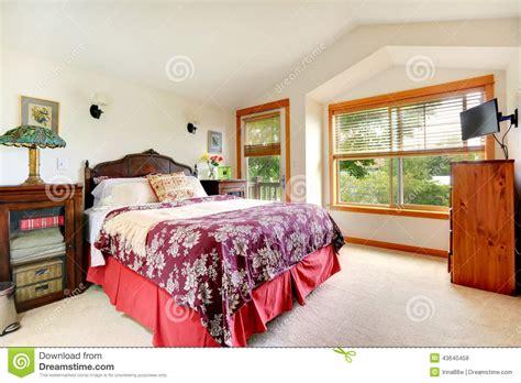 int 233 rieur de chambre 224 coucher dans la maison am 233 ricaine photo stock image 43640458