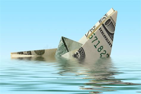 Boat Financing 0 Down by Money Ship In Water Stock Photo Image Of Financial Down